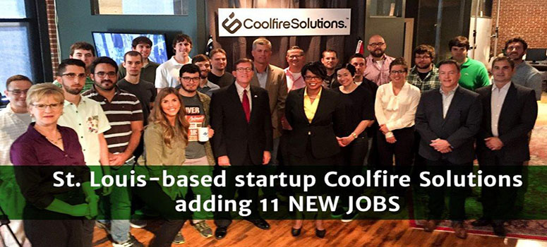 St. Louis based startup Coolfire Solutions added 11 new jobs