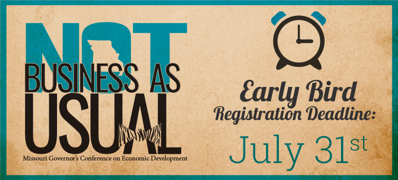 Governor's Conference on Economic Development Early Bird Registration Deadline is July 31st, 2017