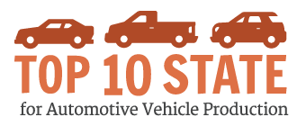 Top 10 State for Automotive Vehicle Production
