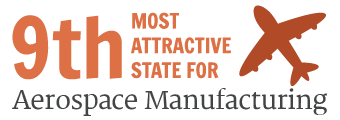 9th Most Attractive State for Aerospace Manufacturing