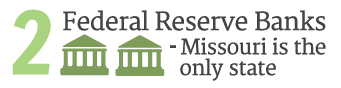 2 Federal Reserve Banks - Missouri is the only state