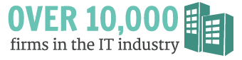 Over 10,000 firms in the IT industry