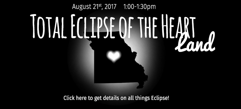 Total Eclipse of the Heart Land, Aug 21, 2017 1:00-1:30pm, click here for all things Eclipse!