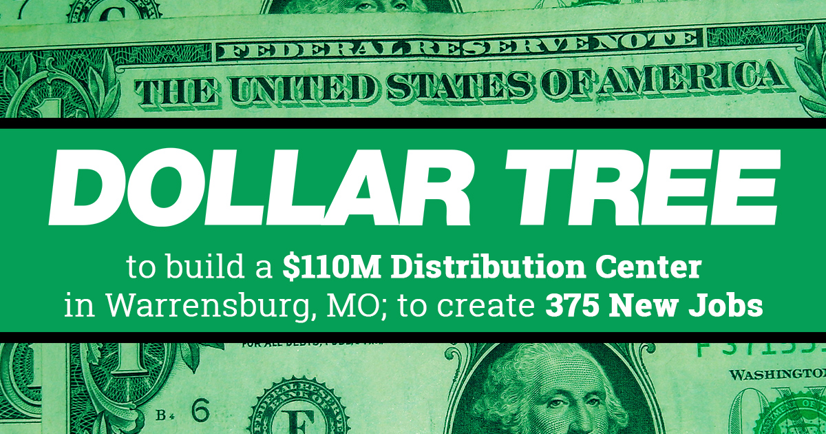 Dollar Tree To Create 375 New Jobs In Warrensburg Department Of